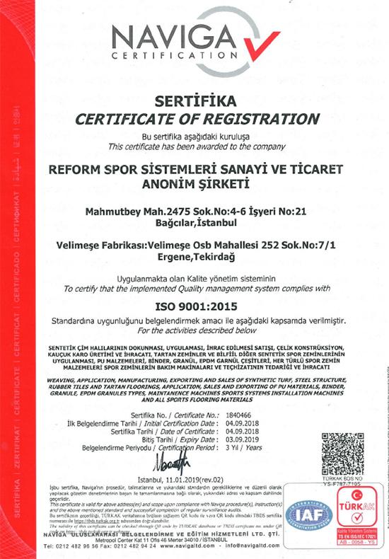 ISO 9001 REFORM
