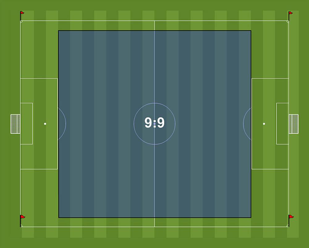 fifa 9v9 pitch area