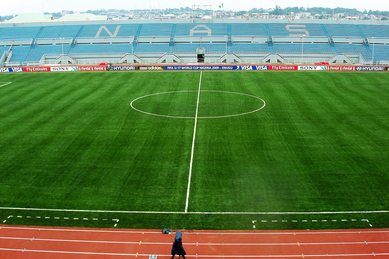 nijerya enugu stadyumu nizami futbol sahasi 2